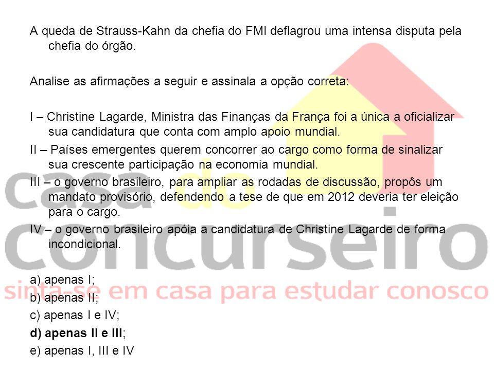 A queda de Strauss-Kahn da chefia do FMI deflagrou uma intensa disputa pela chefia do órgão.