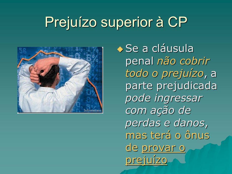Prejuízo superior à CP