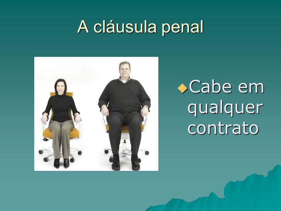 A cláusula penal Cabe em qualquer contrato