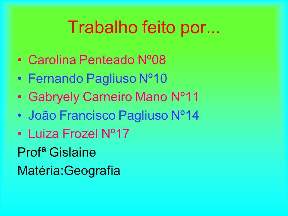 Trabalho feito por... Carolina Penteado Nº08 Fernando Pagliuso Nº10