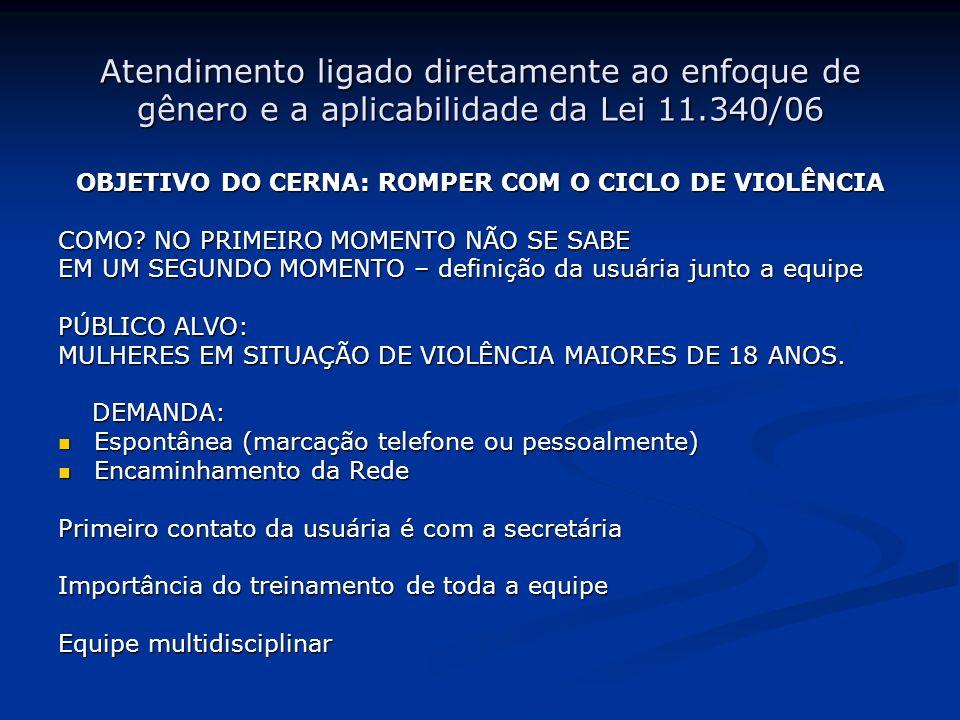 OBJETIVO DO CERNA: ROMPER COM O CICLO DE VIOLÊNCIA