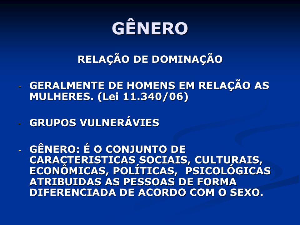 GÊNERO RELAÇÃO DE DOMINAÇÃO