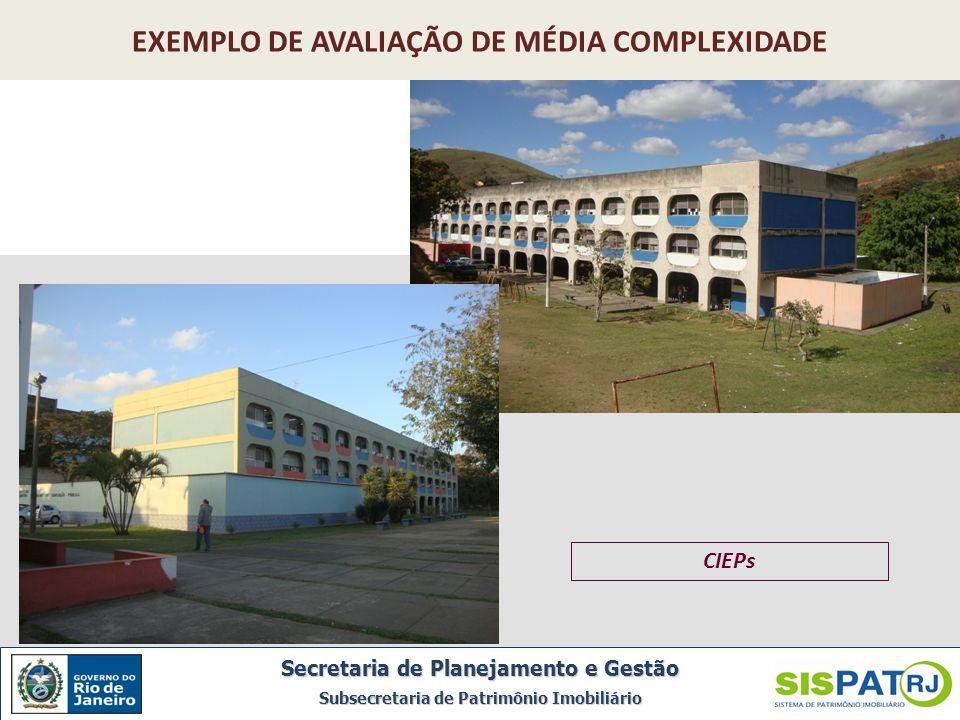 EXEMPLO DE AVALIAÇÃO DE MÉDIA COMPLEXIDADE