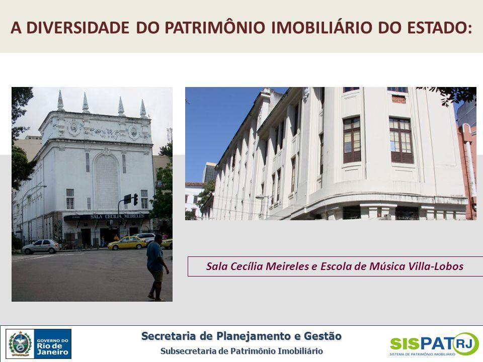 A DIVERSIDADE DO PATRIMÔNIO IMOBILIÁRIO DO ESTADO: