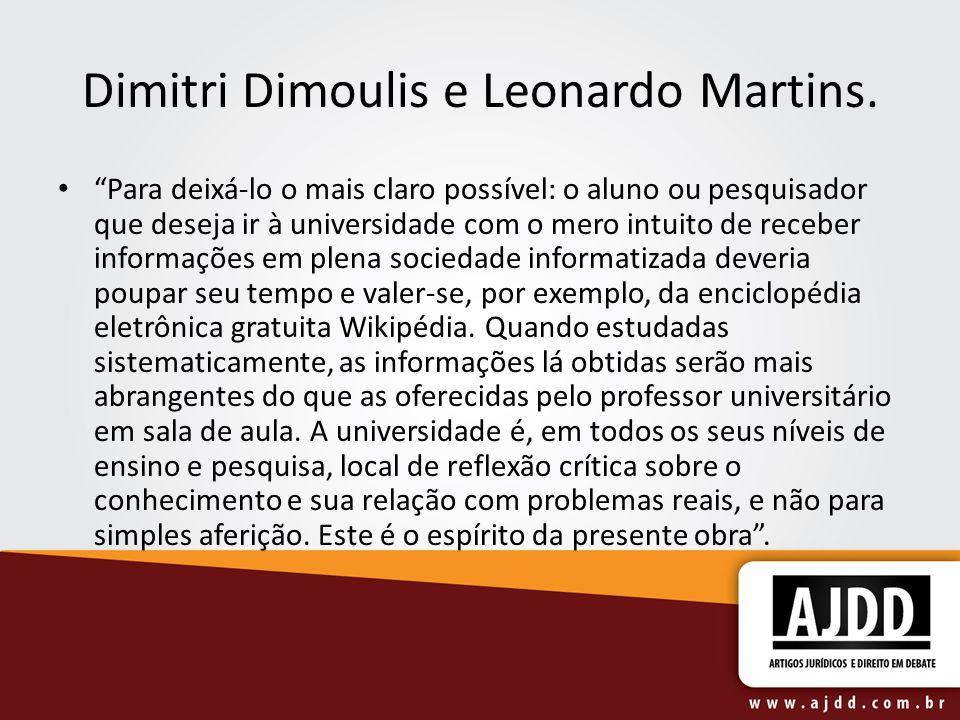 Dimitri Dimoulis e Leonardo Martins.