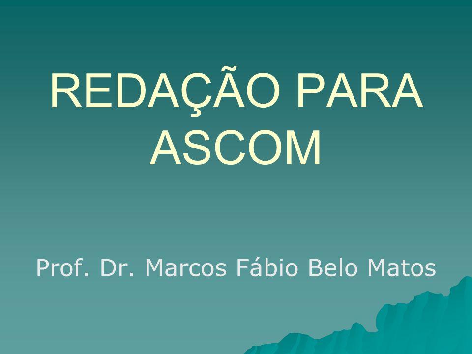 Prof. Dr. Marcos Fábio Belo Matos
