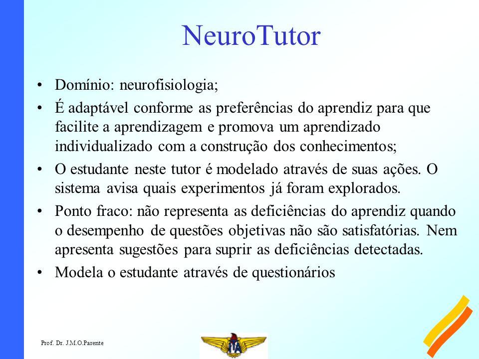 NeuroTutor Domínio: neurofisiologia;