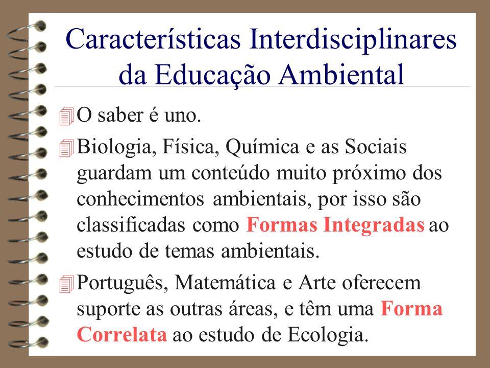 Características Interdisciplinares da Educação Ambiental