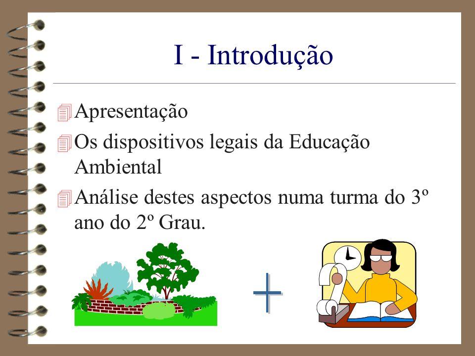 I - Introdução + Apresentação