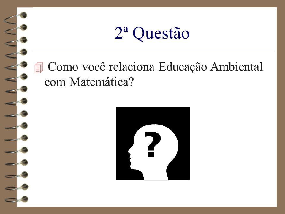 2ª Questão Como você relaciona Educação Ambiental com Matemática