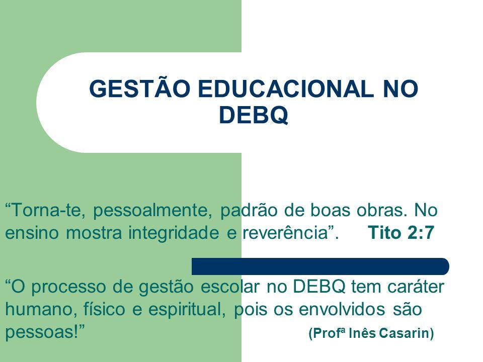 GESTÃO EDUCACIONAL NO DEBQ