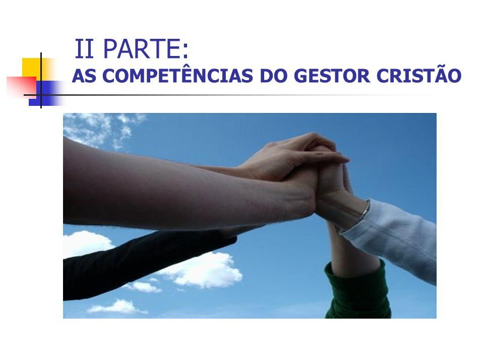 II PARTE: AS COMPETÊNCIAS DO GESTOR CRISTÃO