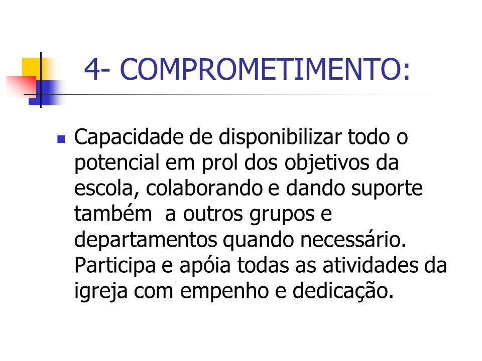 4- COMPROMETIMENTO: