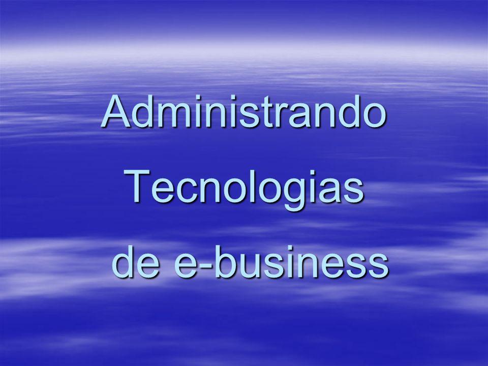 Administrando Tecnologias de e-business