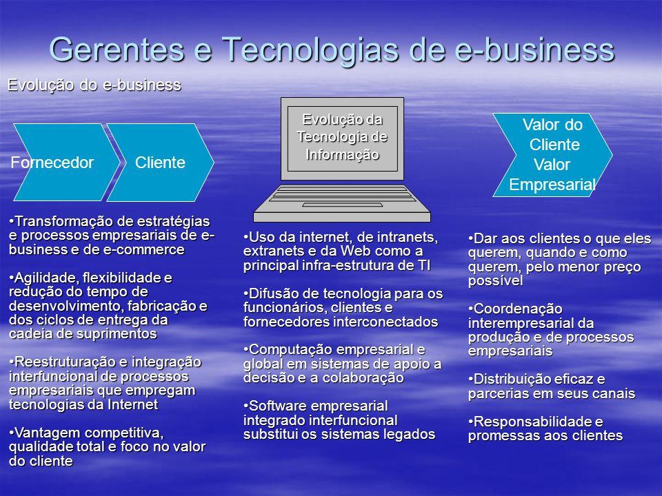 Gerentes e Tecnologias de e-business