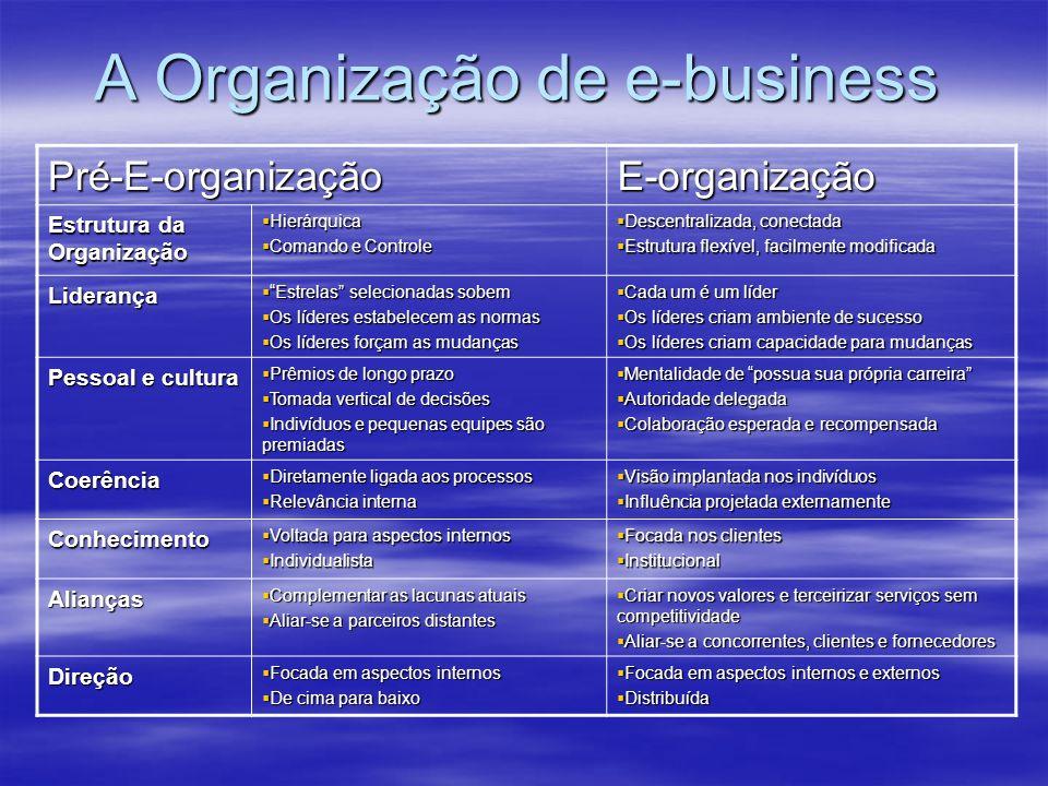 A Organização de e-business