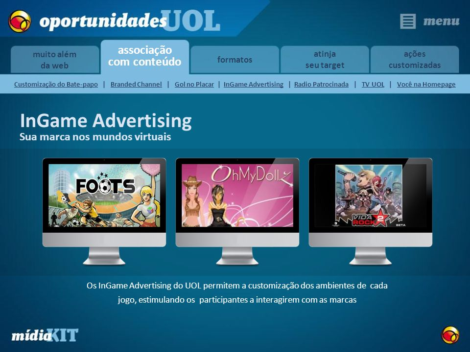 InGame Advertising Sua marca nos mundos virtuais