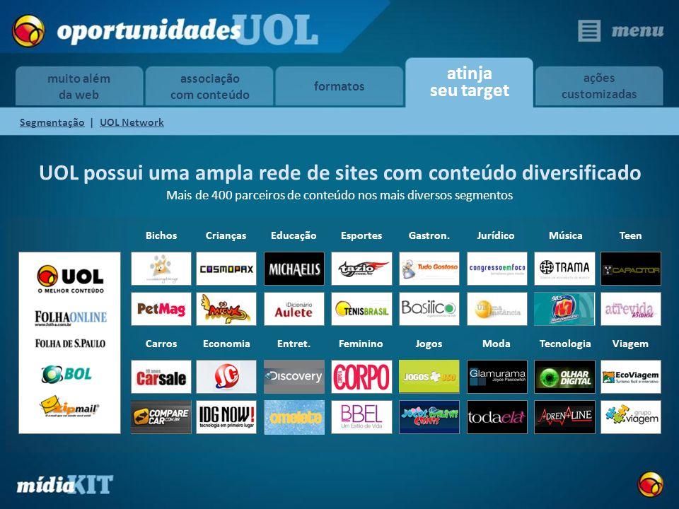 UOL possui uma ampla rede de sites com conteúdo diversificado