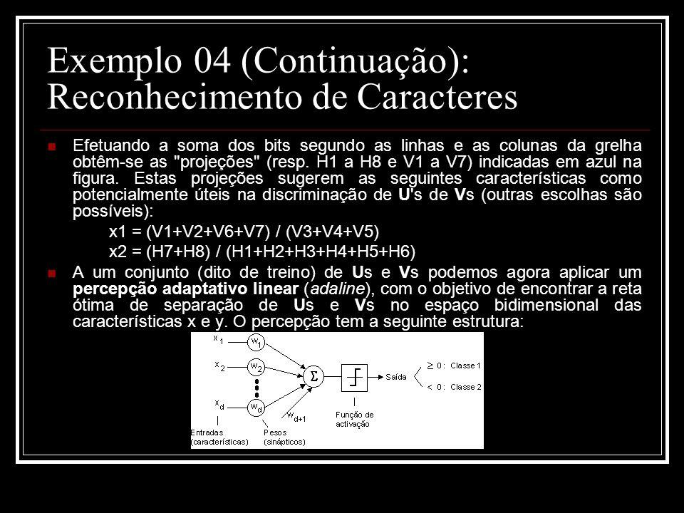 Exemplo 04 (Continuação): Reconhecimento de Caracteres
