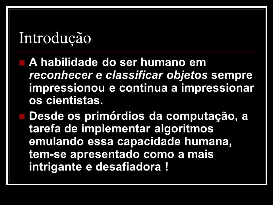 Introdução A habilidade do ser humano em reconhecer e classificar objetos sempre impressionou e continua a impressionar os cientistas.