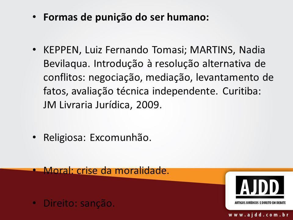 Formas de punição do ser humano: