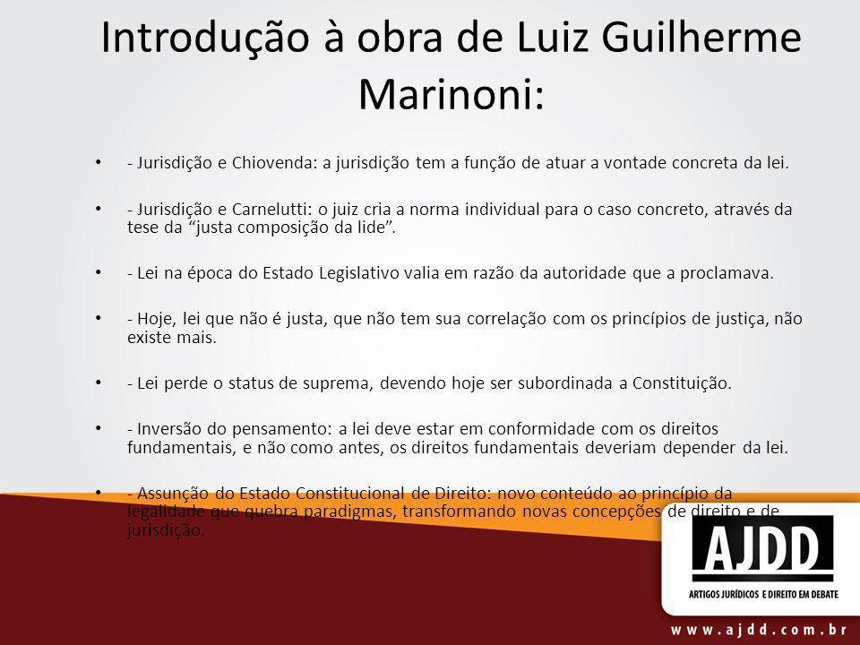 Introdução à obra de Luiz Guilherme Marinoni: