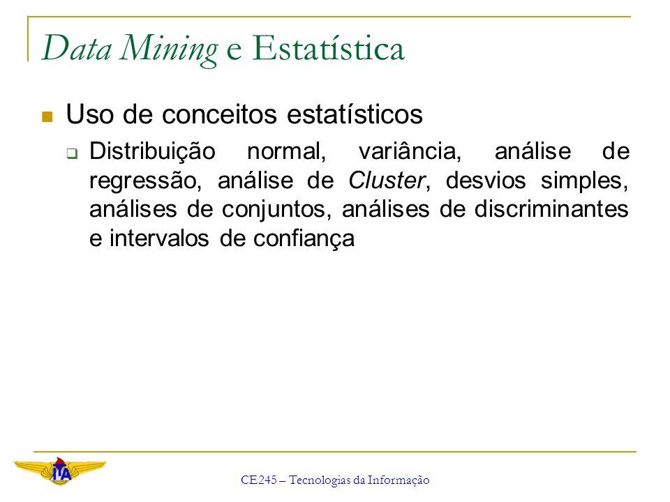 Data Mining e Estatística