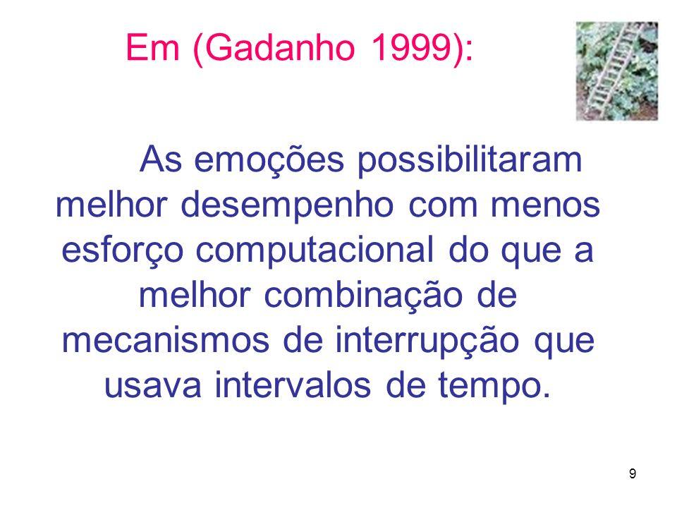 Em (Gadanho 1999):