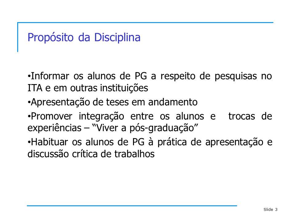 Propósito da Disciplina