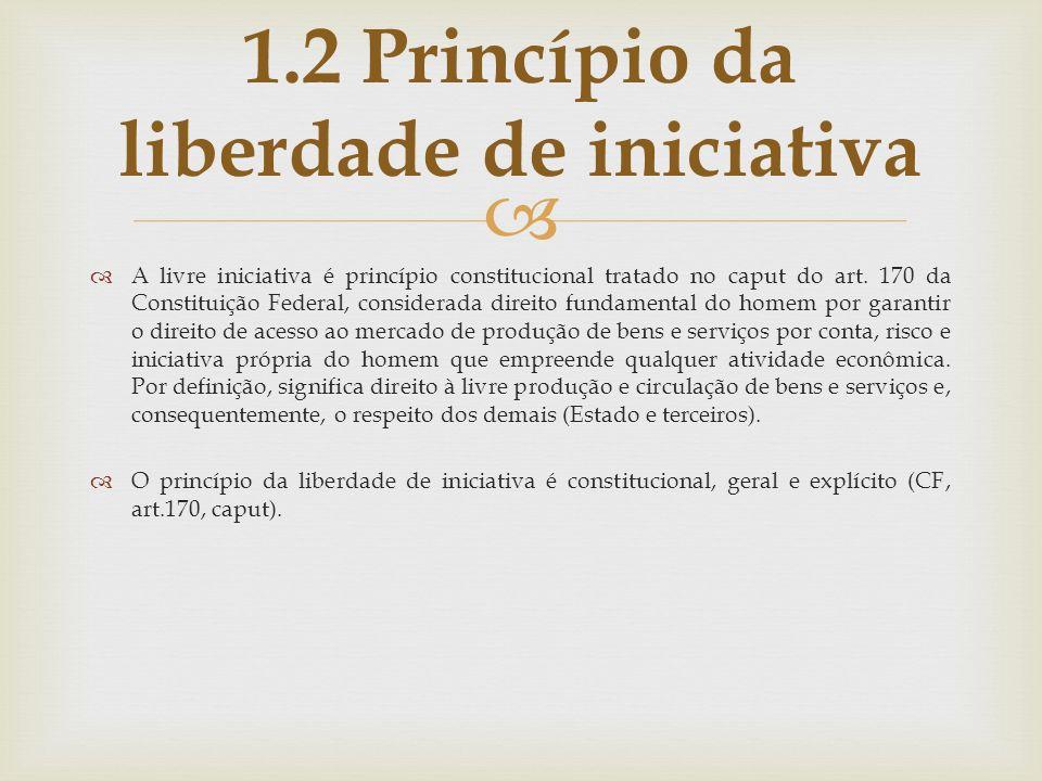 1.2 Princípio da liberdade de iniciativa