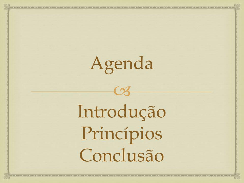 Introdução Princípios Conclusão