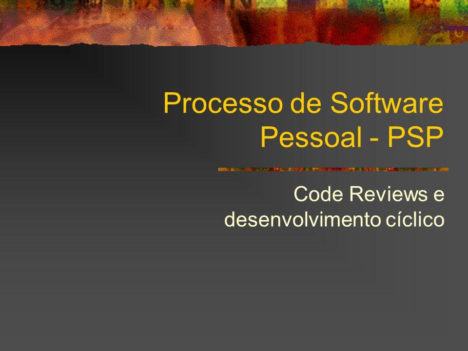 Processo de Software Pessoal - PSP