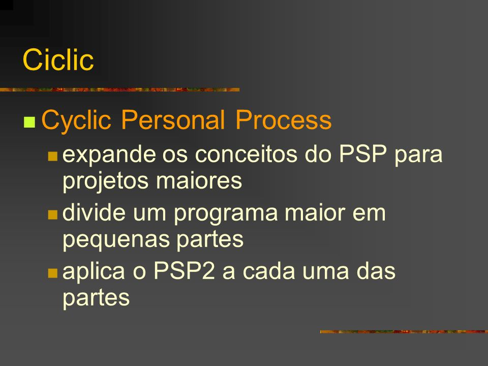 Ciclic Cyclic Personal Process