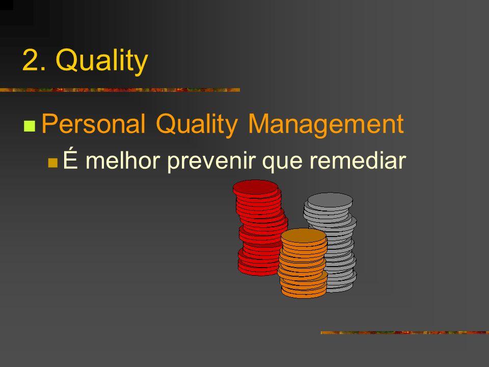2. Quality Personal Quality Management É melhor prevenir que remediar