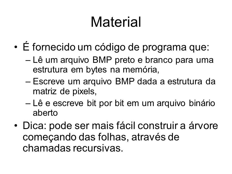 Material É fornecido um código de programa que: