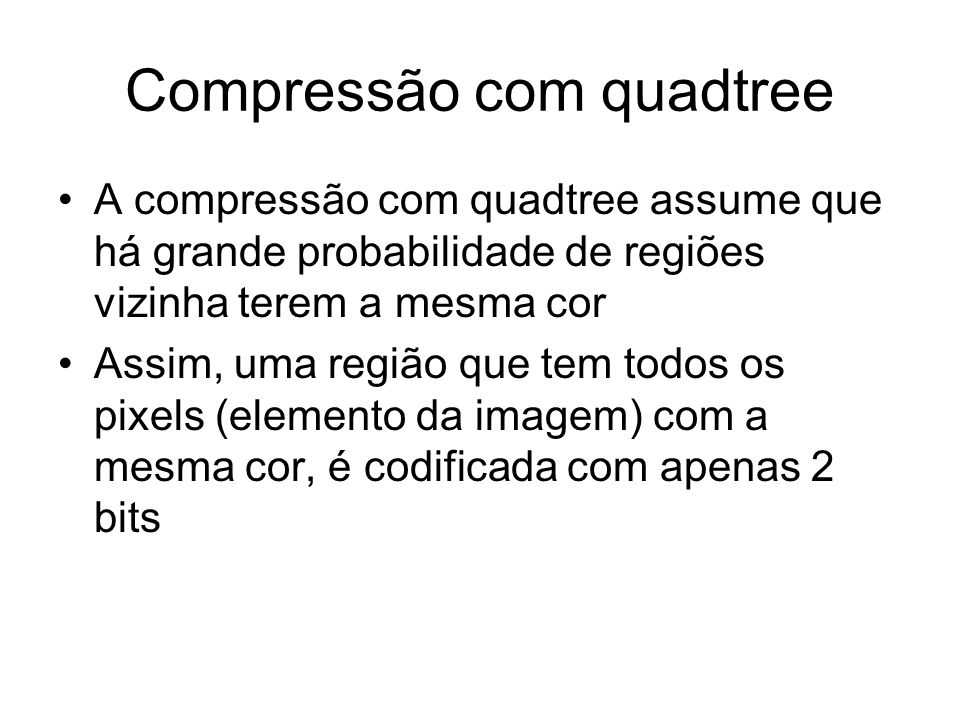 Compressão com quadtree