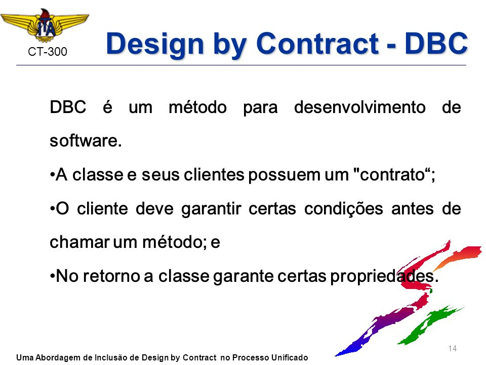Design by Contract - DBC