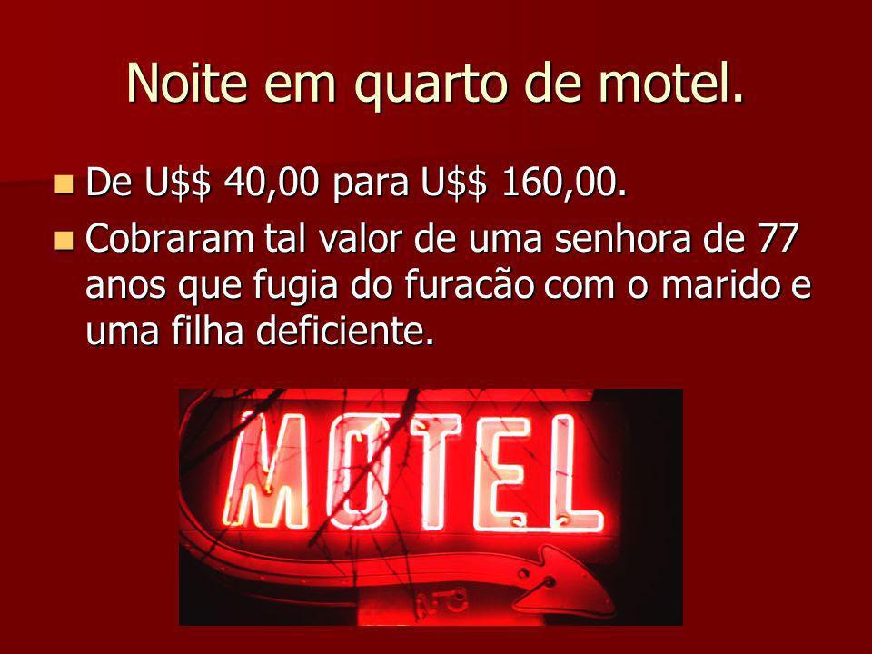Noite em quarto de motel.