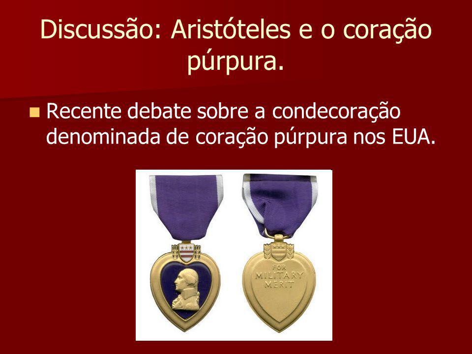 Discussão: Aristóteles e o coração púrpura.