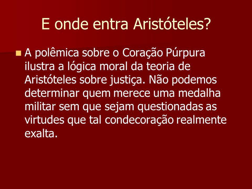 E onde entra Aristóteles