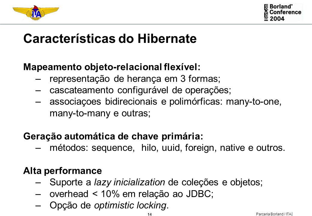 Características do Hibernate