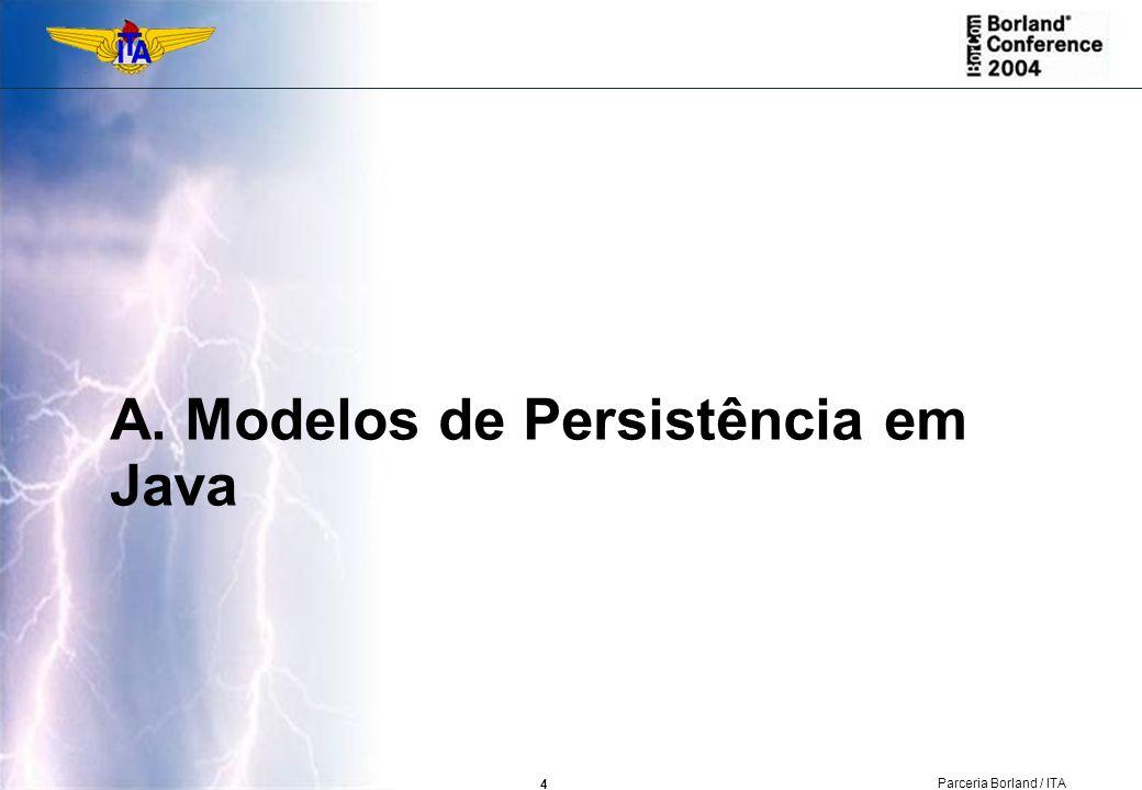 A. Modelos de Persistência em Java