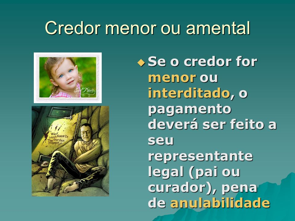 Credor menor ou amental