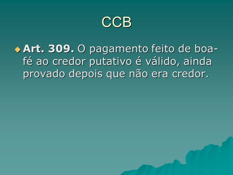 CCB Art. 309.
