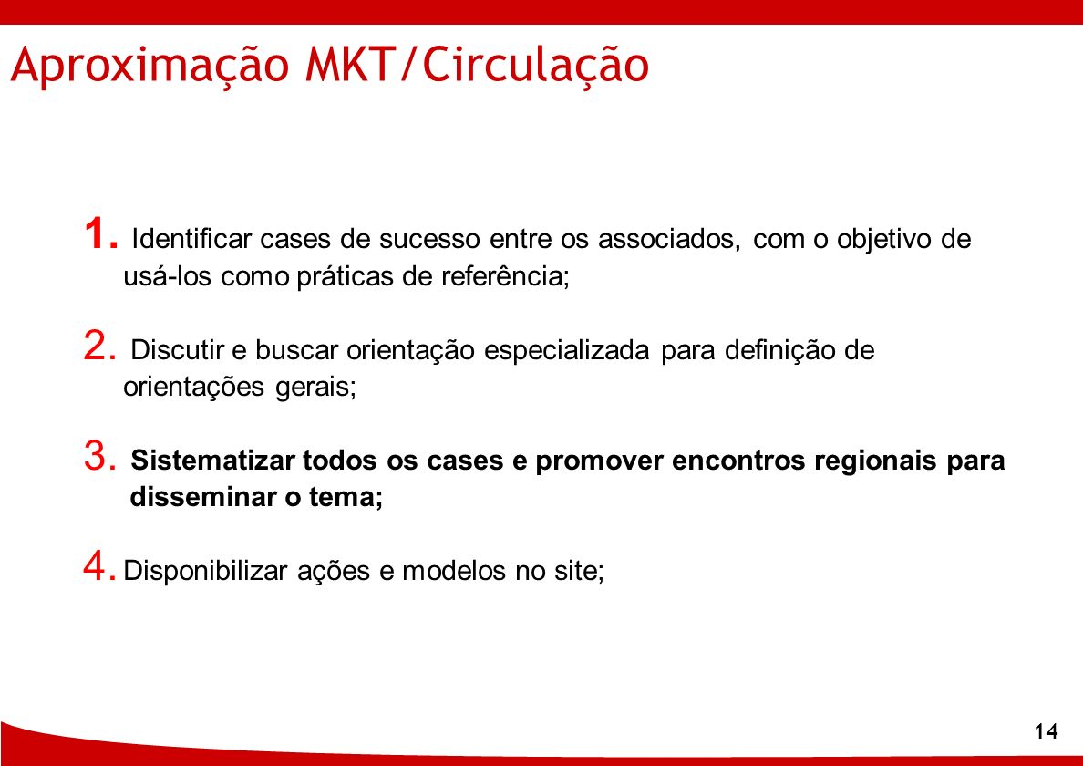 Aproximação MKT/Circulação