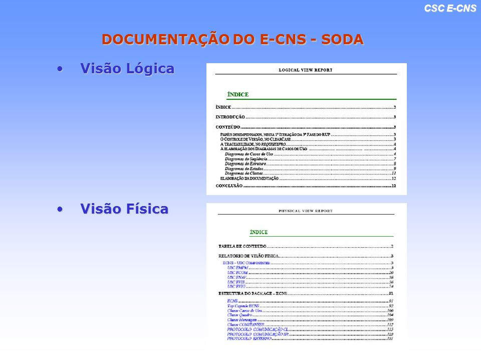 DOCUMENTAÇÃO DO E-CNS - SODA