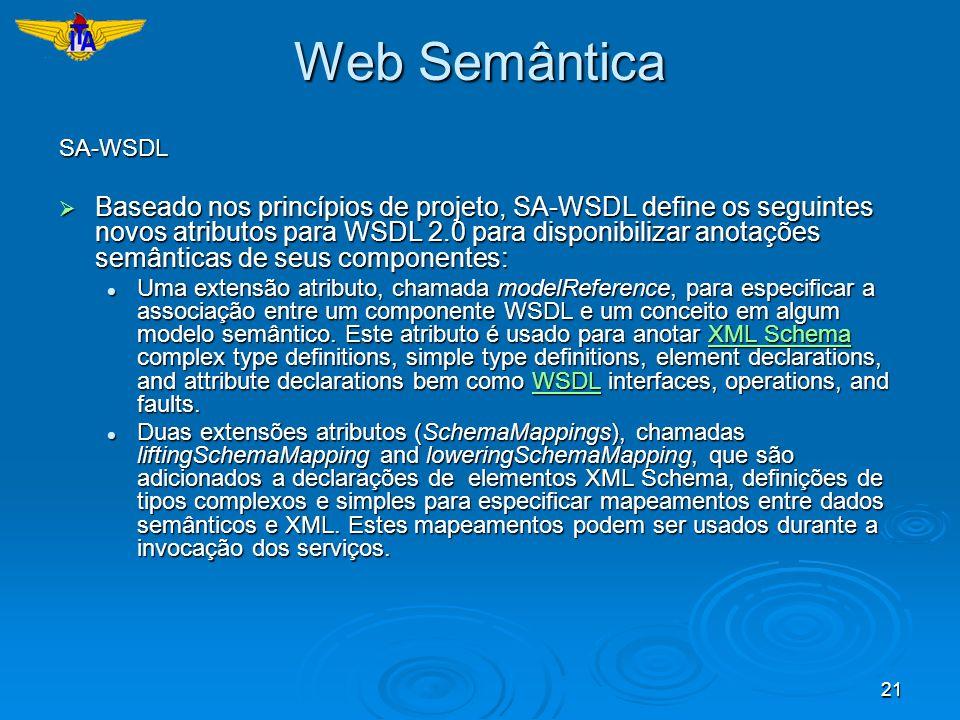 Web SemânticaSA-WSDL.