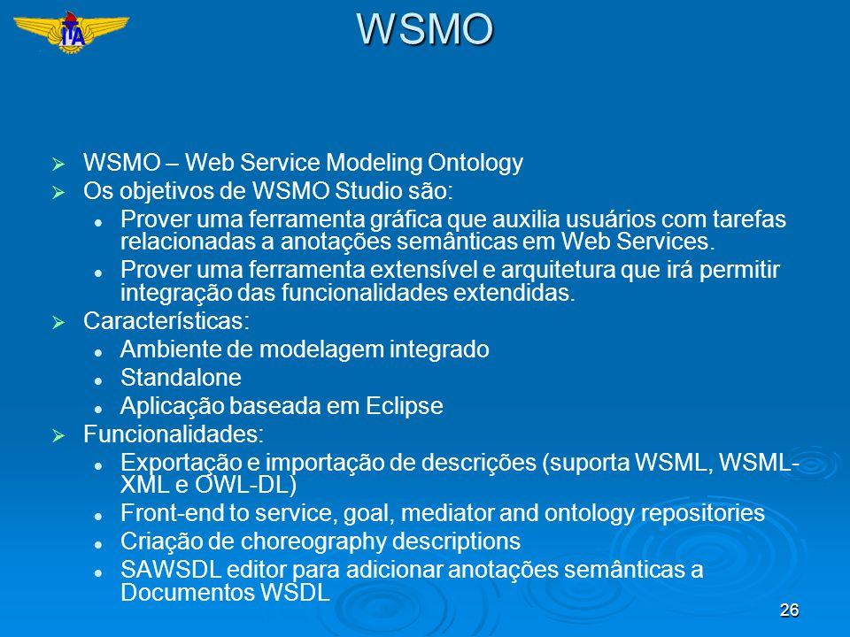 WSMO WSMO – Web Service Modeling Ontology