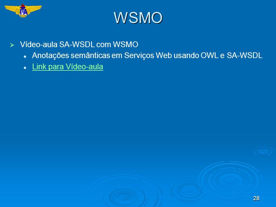 WSMO Vídeo-aula SA-WSDL com WSMO