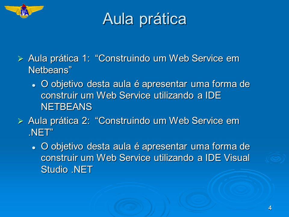 Aula prática Aula prática 1: Construindo um Web Service em Netbeans
